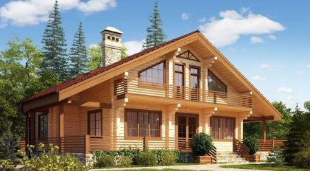 Виды домов из бруса